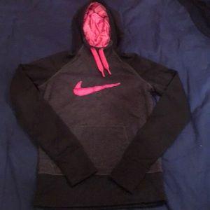 Nike black and hot pink sweatshirt